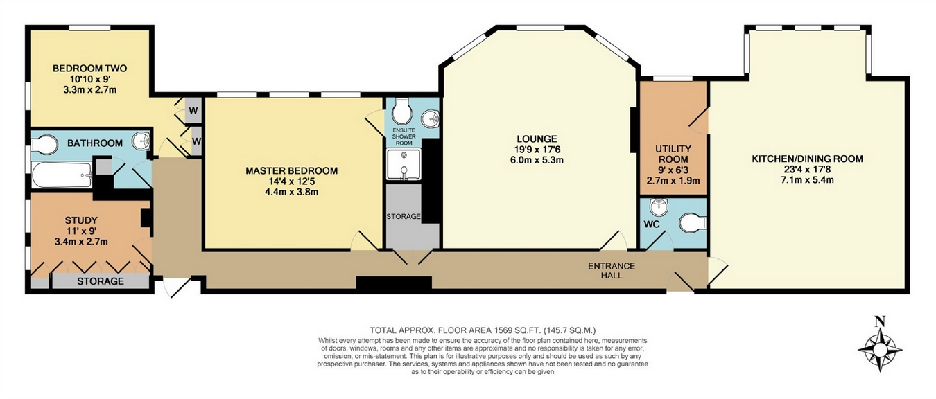3 Bedrooms Flat for sale in Apartment 3, Thorpe Hall, Queens Drive, Ilkley, West Yorkshire LS29