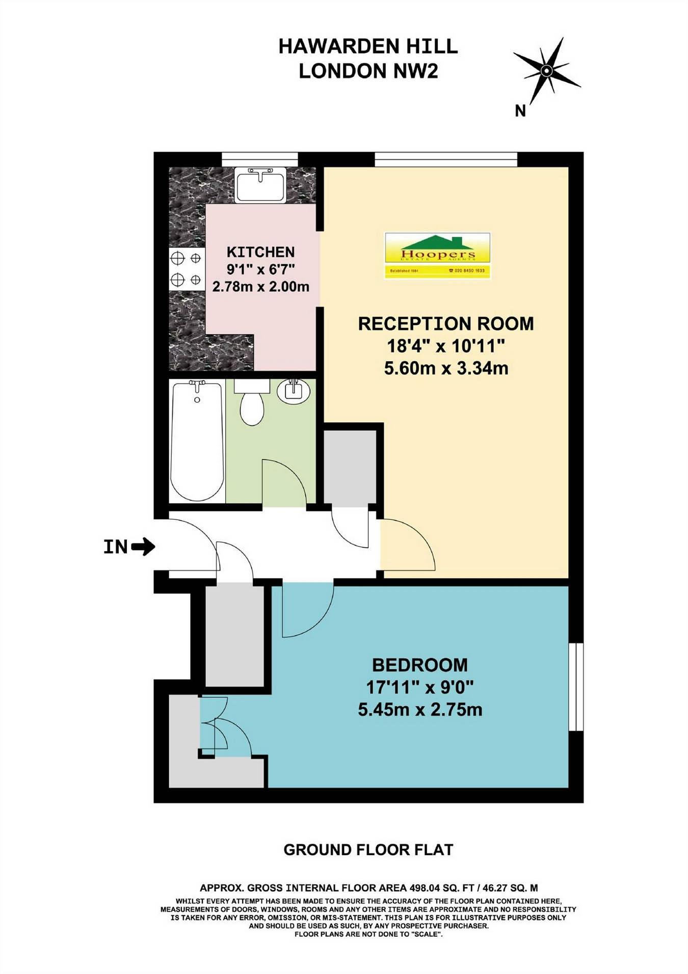 Hawarden Hill Brook Road London Nw2 1 Bedroom Flat For